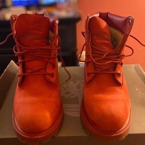 6in Red timberland